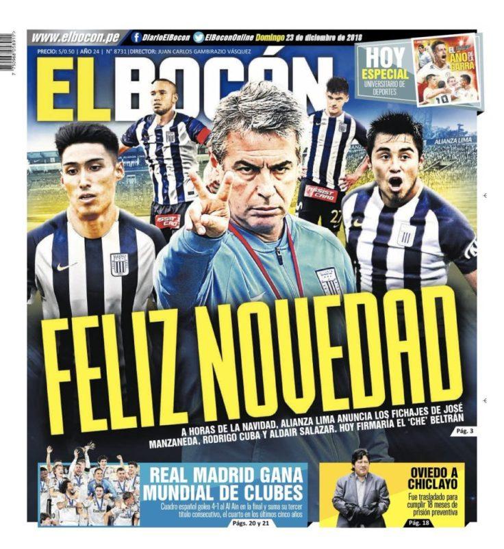 diarios deportivos del 23 de diciembre de 2018