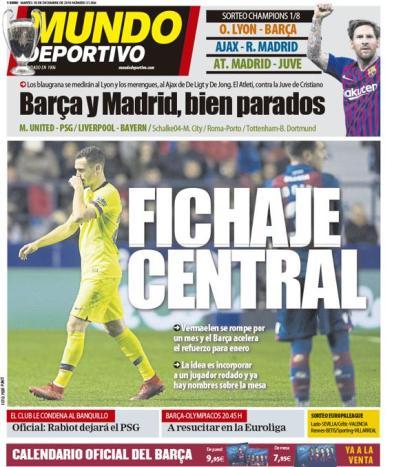 diarios deportivos del 18 de diciembre de 2018