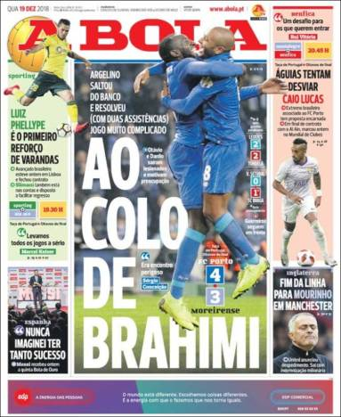 diarios deportivos del 19 de diciembre de 2018