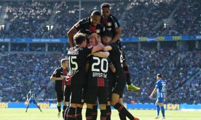 Bayer Leverkusen goleó al Hertha Berlín