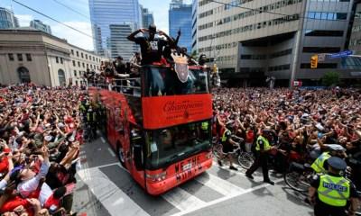 desfile de campeones de los Raptors
