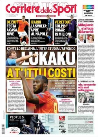 Antonio Conte quiere a Romelu Lukaku como refuerzo para la siguiente temporada. (Corriere dello Sport)