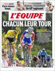El italiano Giulio Ciccone es el nuevo líder de la Tour de France. (L'Equipe)