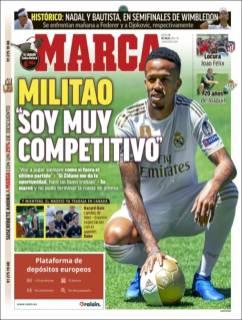 Éder Militao con mareos en su presentación con el Real Madrid causó polémica. (Marca)