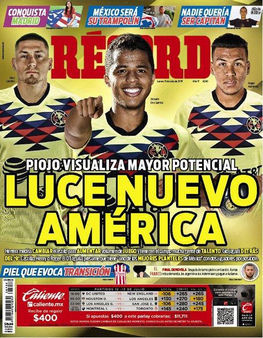 América luce un equipo de miedo de cara al Apertura 2019. (Récord)