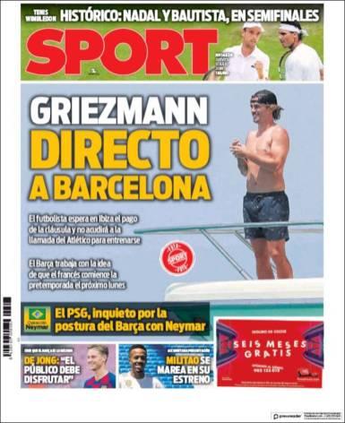 El Barça prepara el pago de Griezmann y el lunes podría presentarse a la pretemporada de los blaugranas. (Sport)