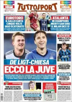 Federico Chiesa y Matthijs de Ligt serán los nuevos fichajes de la Juve. (Tuttosport)