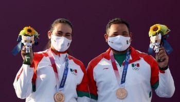Alejandra Valencia y Luis Álvarez bronce en Tokio 2020