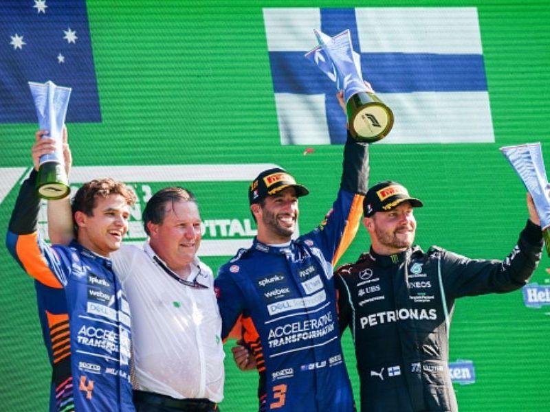 Checo Pérez finalizó quinto en el GP de Italia