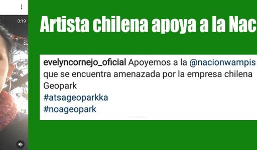 #AtsáGeoparkka: Cantante Chilena muestra su apoyo a la Nación Wampís de la Amazonía peruana afectada por petrolera Geopark