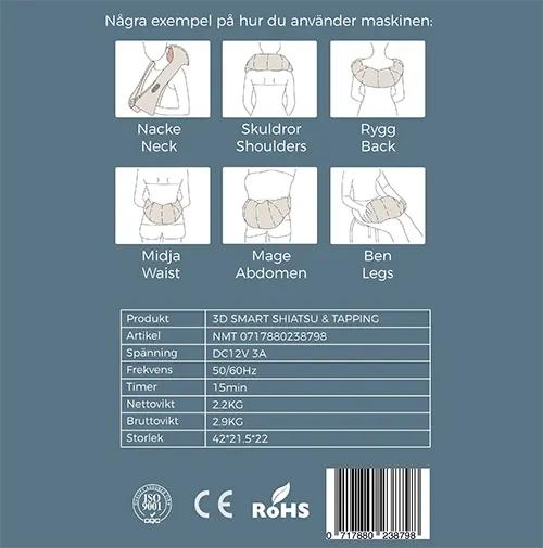 3D smart SHIATSU & TAPPING nackmassage
