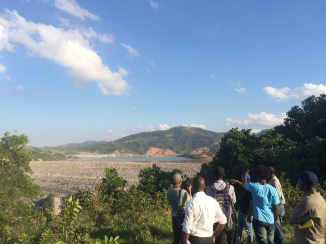 KJM Delegation Looking at Tailings Pond, Pueblo Viejo, Dominican Republic (Photo by Ellie Happel)