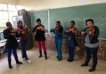 String lessons in Ekangala, Pretoria, South Africa