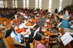 The music programme in Kimberley, in the Free State, South Africa