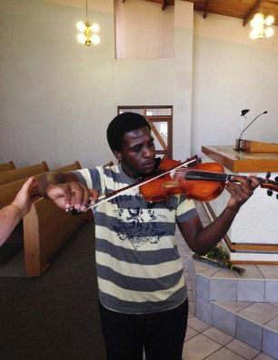 Violin lessons at Edenvale in Johannesburg, South Africa
