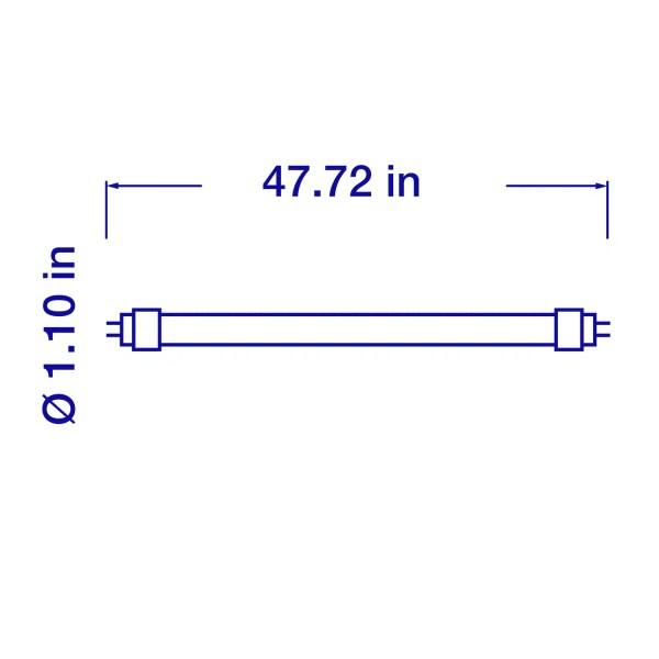 4 ft. 5000K, 2250lm Ballast Bypass T8 LED Tube