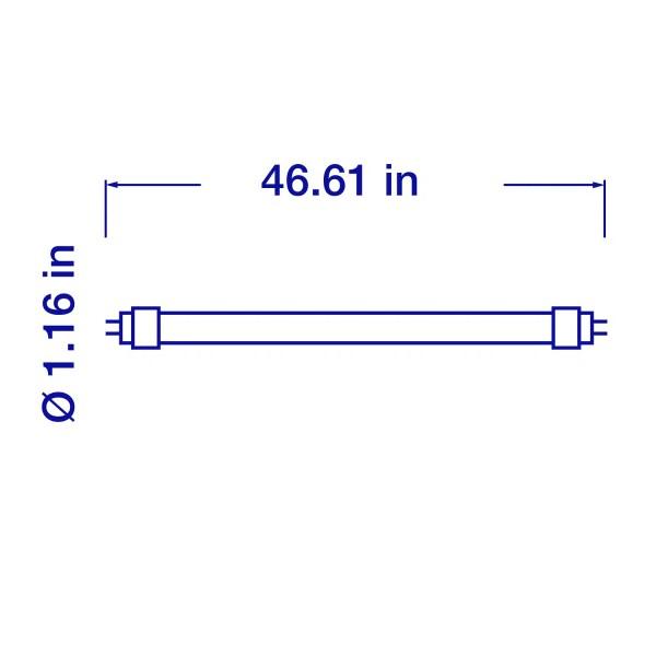 4 ft. 4000K, 1800lm Ballast Bypass T8 LED Tube
