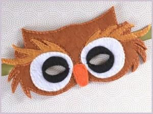 dečija maska - sova 2
