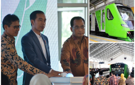 Presiden RI Resmikan Kereta Ekspress Ke-3 di Bandara Internasional Minangkabau