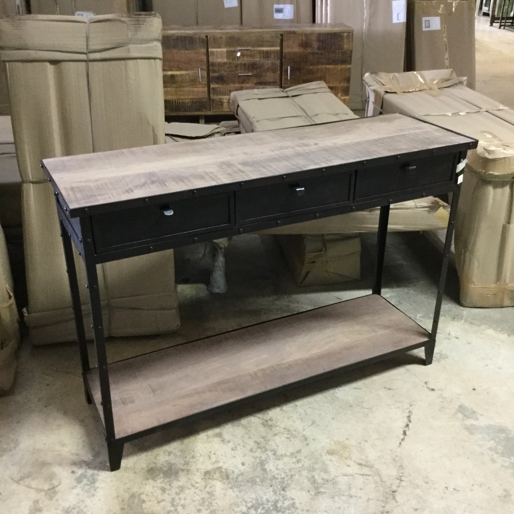 Iron Console Table With Wheels Nadeau Nashville