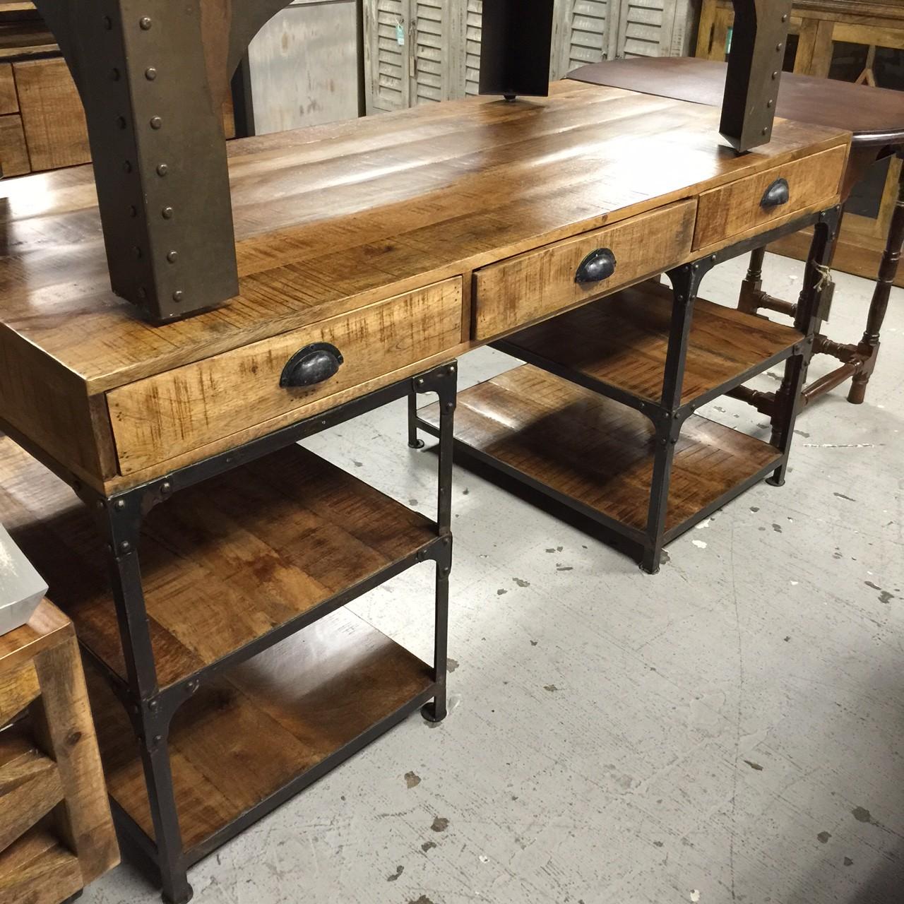 Iron And Wood Desk Nadeau Nashville