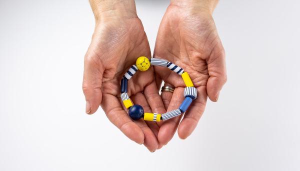 Polymer clay bracelet by Nadege Honey