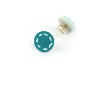 Stud earrings teal nadege honey
