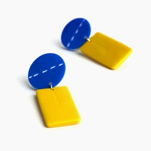 musstard clay statement earrings