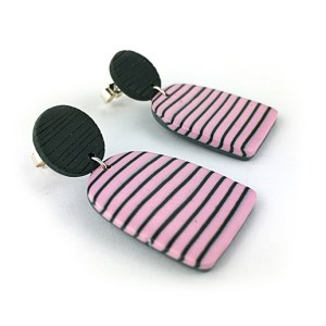 BRETON PINK earrings by nadege honey