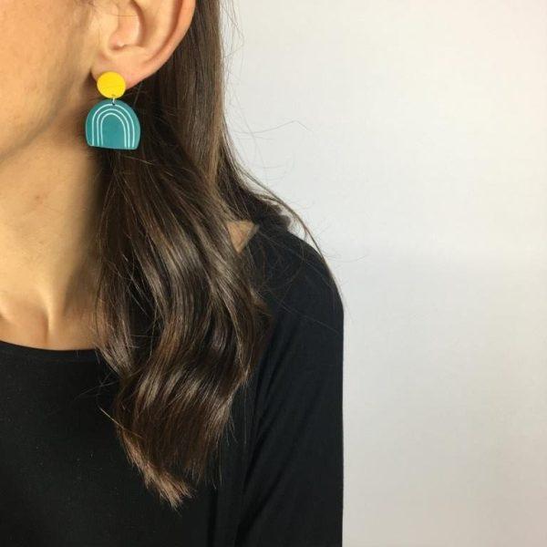 Clay earrings by Nadege Honey