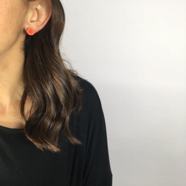 small colourful studs by Nadege Honey
