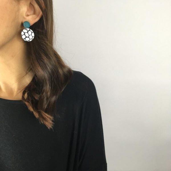 circle clay earrings by nadege honey