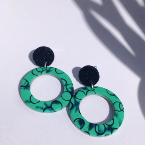 polymer clay earrings by nadege honey
