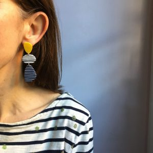 polymer clay earrings by nadege honey
