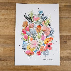 floral and botanical watercolour by nadege honey