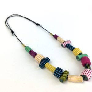 colourful breton clay necklace by nadege honey