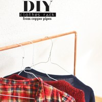 Copper - DIY clothes rack from copper pipes
