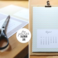 Into a structured new year - Free printable calendar 2015