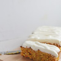 Wearing a sunday dress - Breakfast carrot cake with coconut
