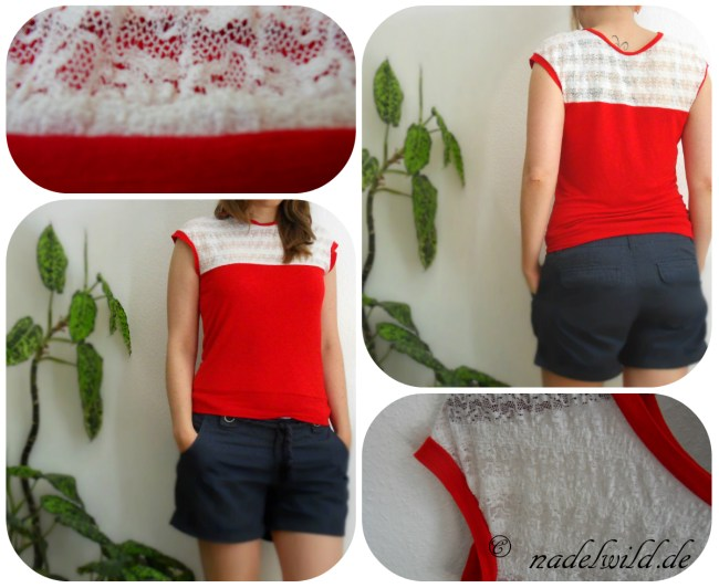 Rotes Sommershirt