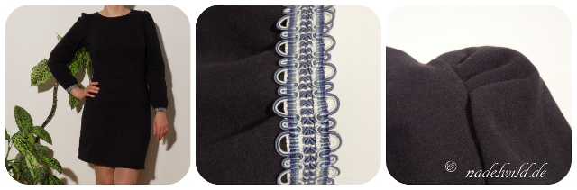 Blaues Jersey-Kleid