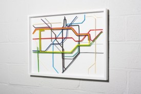 London Tube Map Built With Drinking Straws