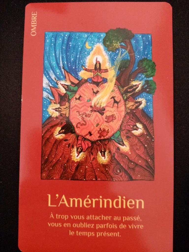 """L'amérindien du jeu de carte """" Les cartes Lumière"""""""