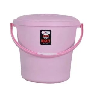 Ivanic Plastic 18 L Storage Bucket with Lid (Pack of 1) Multicolour