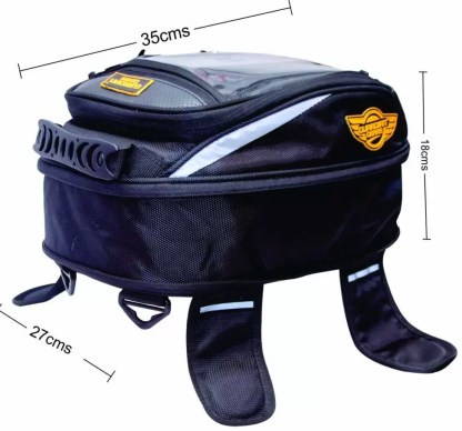 Guardian Gears Jaws Mini 18L Magnetic Tank Bag with Rain Cover for All Motorbikes with a Metal Tank