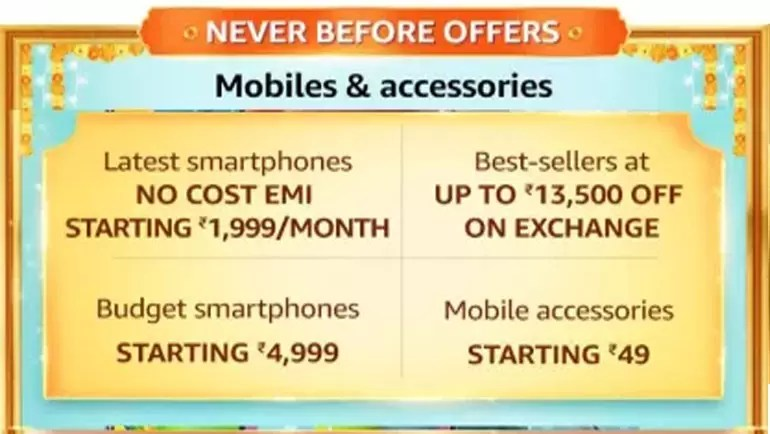 Amazon Great Indian Festival Mobile and accessories offer