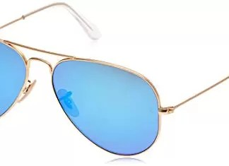 Ray-Ban Mirrored Aviator Men s Sunglasses Matte Gold 0RB3025-112 or 17-58-Blue