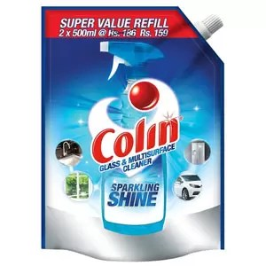 Colin Glass and Surface Cleaner with Shine Boosters Refill Regular 1L