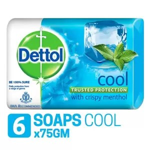 Dettol Cool Soap 75g Pack of 6