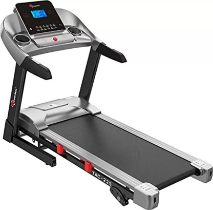 PowerMax Fitness AC Motorized Treadmill with Semi Auto Lubrication for Home/Office